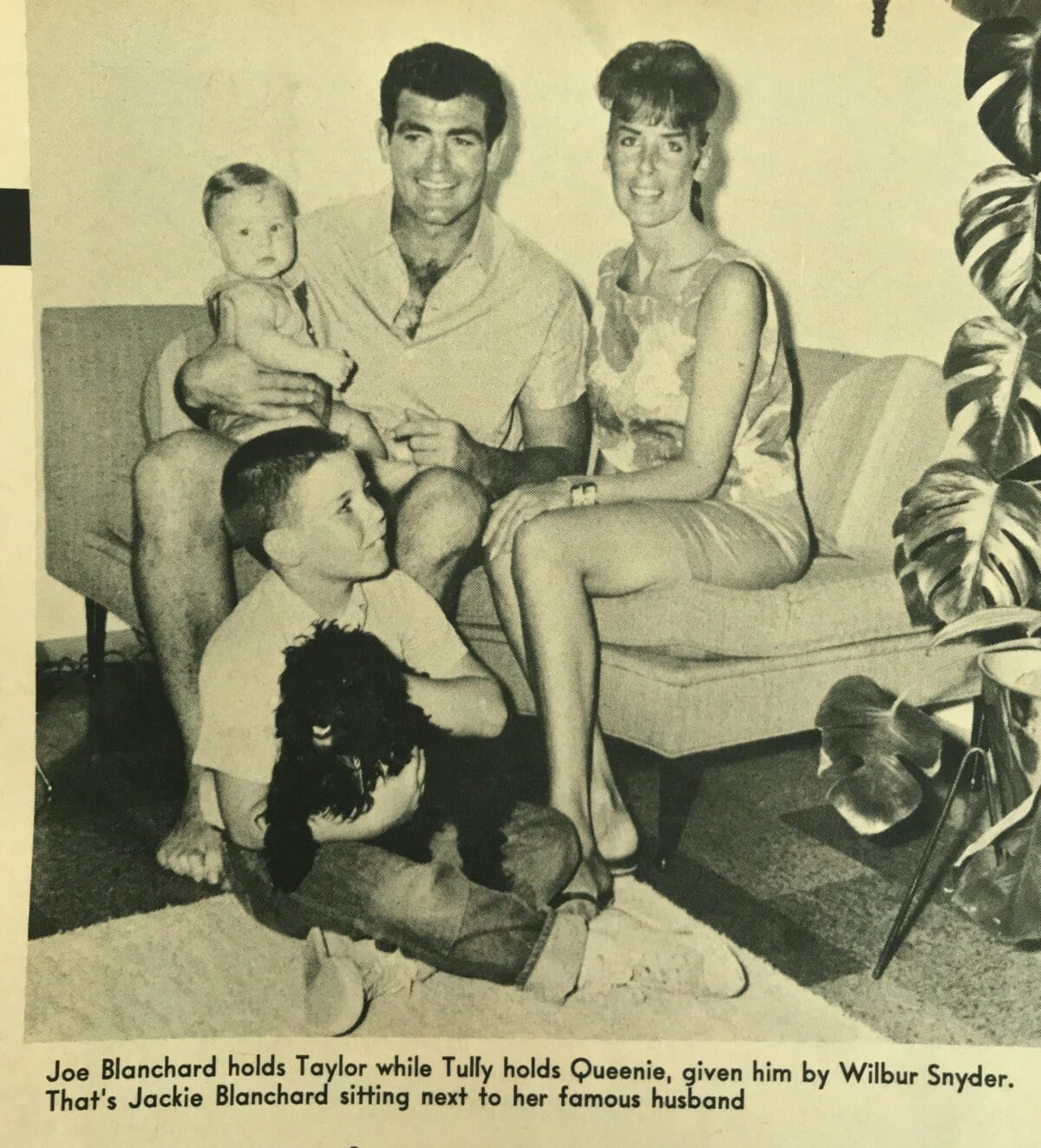 Joe Blanchard with his family, including a young Tully Blanchard. (Photo credit: @ostpies on Twitter)