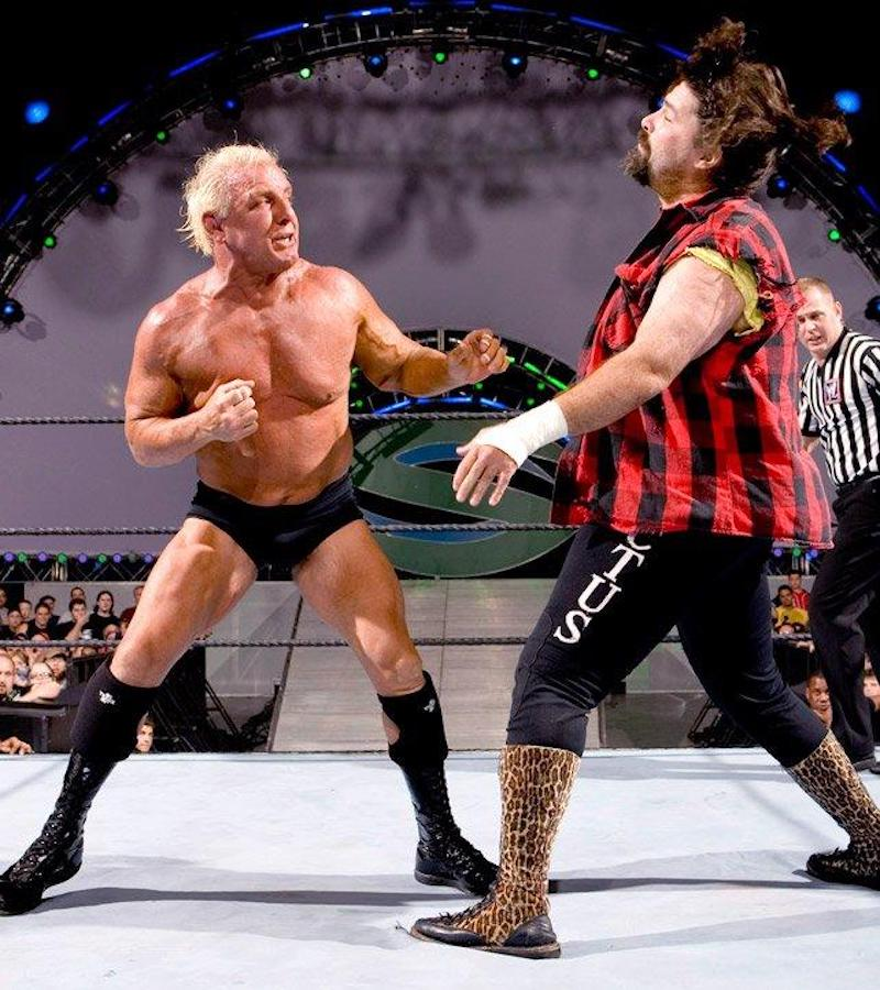 Ric Flair throws some jabs at Mick Foley at WWE Vengeance 2006.