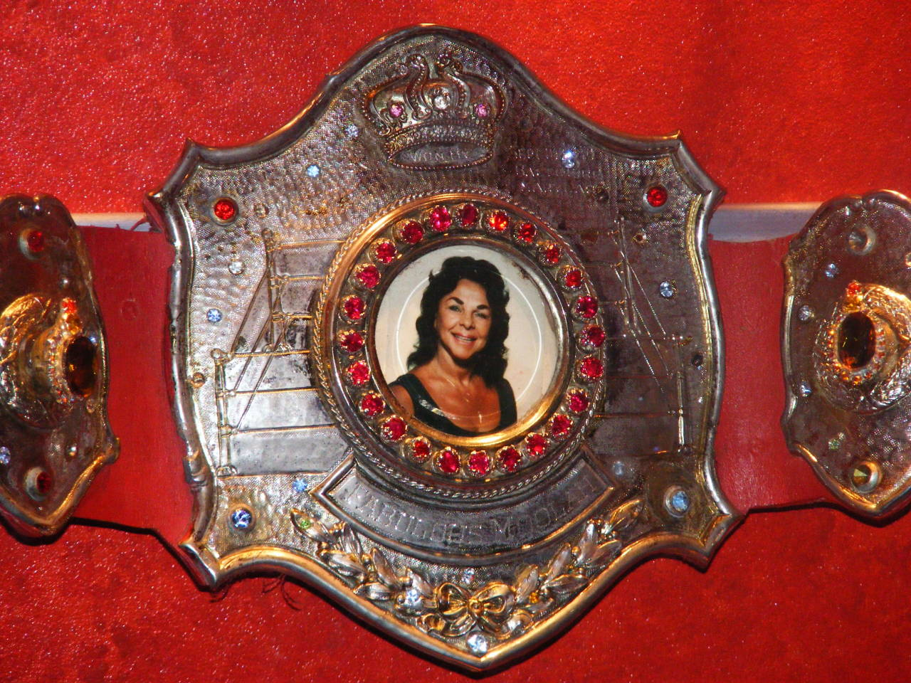 The Fabulous Moolah's original Women's World Championship belt.
