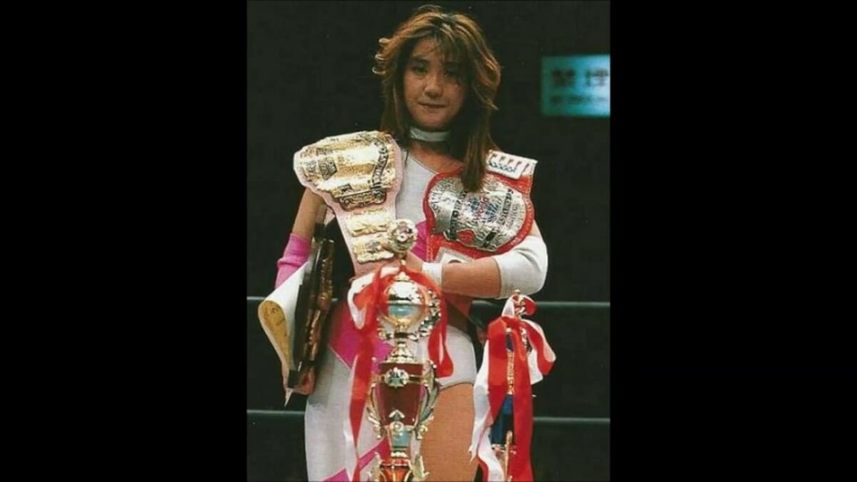 Hayabusa and Megumi Kudo (pictured) represented a new era for FMW when Onita sold the company and retired temporarily. She would also endure much punishment in Deathmatches.