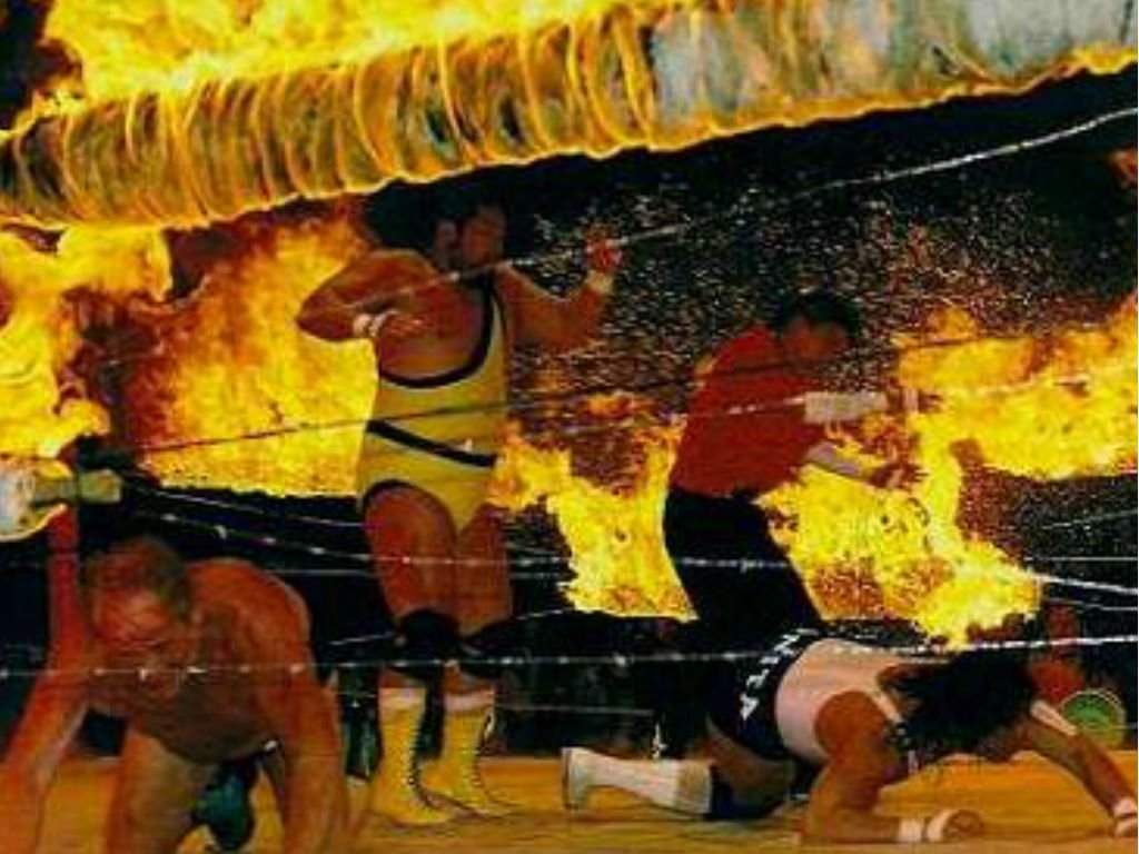 Controlled or uncontrolled chaos? The Sheik on the left was lucky to survive his stint in FMW.