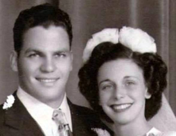 My parents Angelo and Judy Poffo, seen here on their wedding day, instilled conscientiousness in Randy.