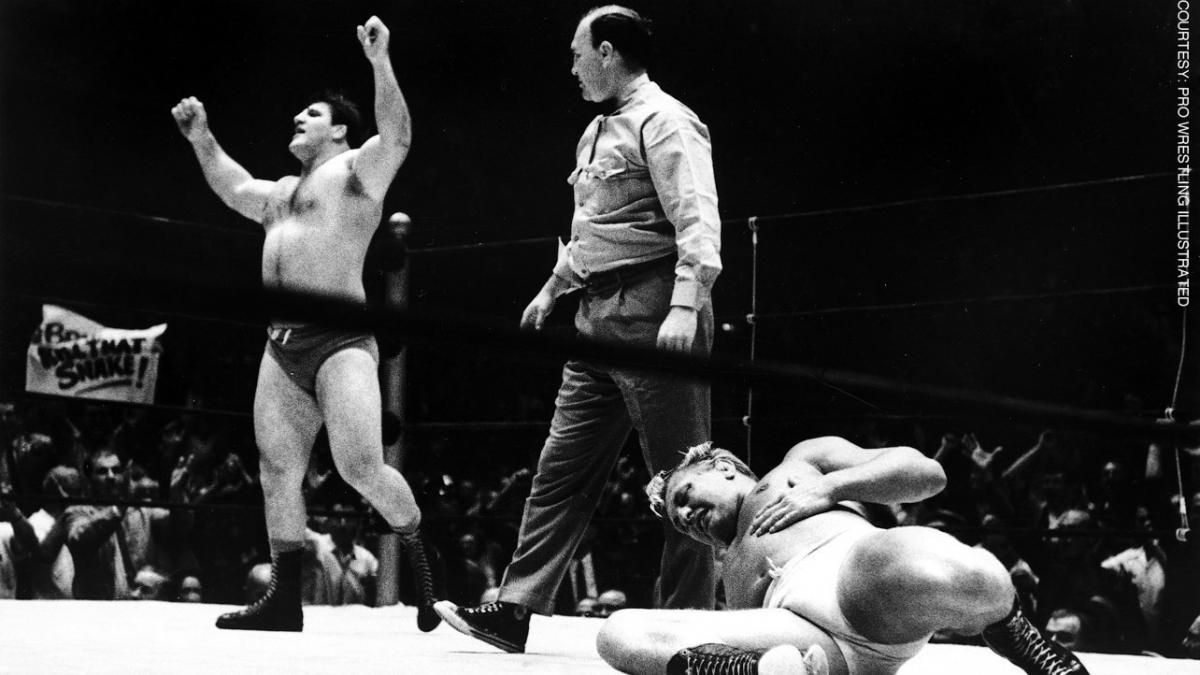 Bruno Sammartino wins the WWWF Championship for the very first time after defeating Buddy Rogers in just 48 seconds at Madison Square Garden on May 17, 1963.
