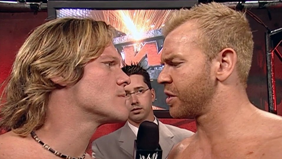Christian Pulls a Rib on Chris Jericho