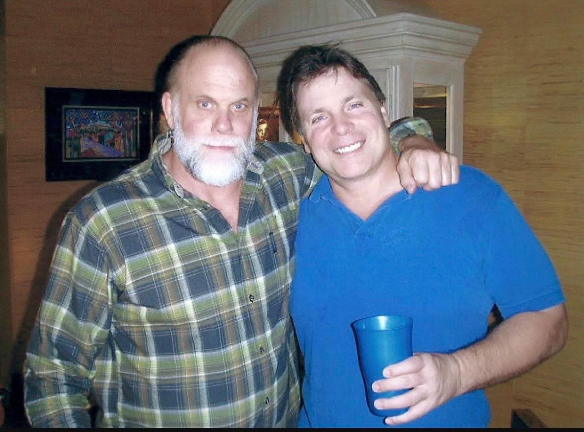 Randy Savage and Lanny Poffo, Christmas 2010. This would be Randy's final Christmas.