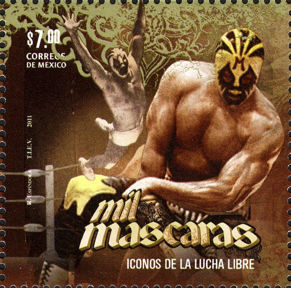Mil Máscaras in 2011 was immortalized (somewhat) by being on one of three different postal stamps in Mexico dedicated to his legacy and other Icons of Lucha Libre.
