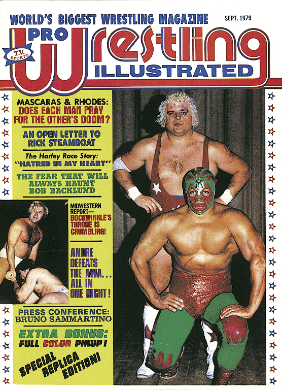 In 1979, Mil Máscaras graced the cover of the inaugural issue of Pro Wrestling Illustrated.