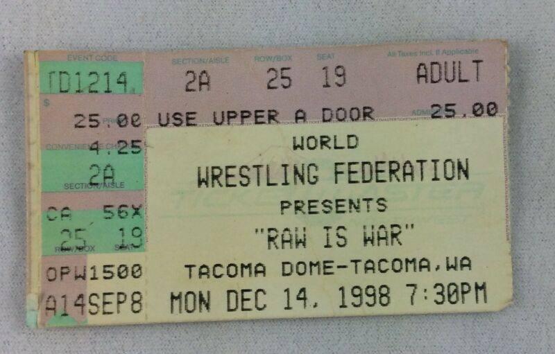 'RAW IS WAR' Ticket Stub | Nostalgic Wrestling Photos