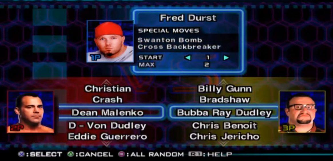 Fred Durst as a Playable Character in WWF SmackDown! Just Bring It video game | Nostalgic Wrestling Photos