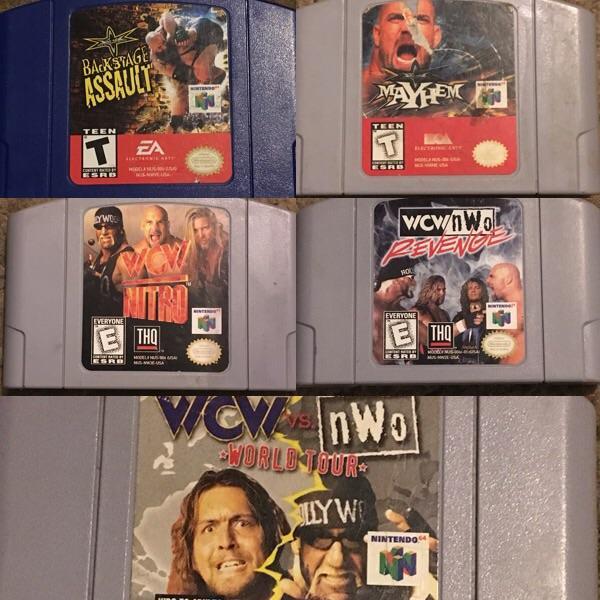 WCW N64 Games | Nostalgic Wrestling Photos