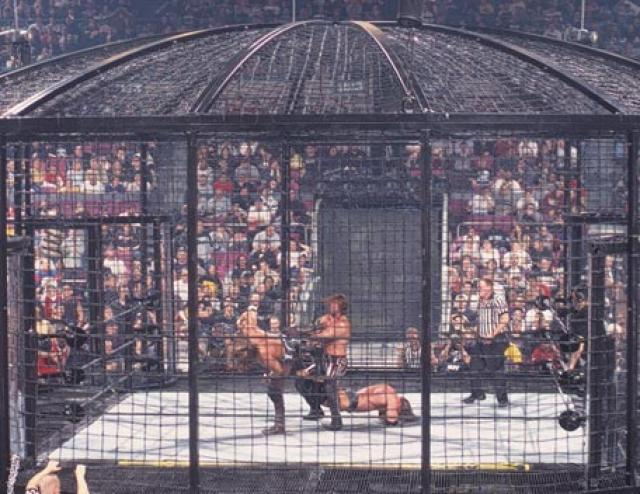 The First-Ever Elimination Chamber Match | Nostalgic Wrestling Photos