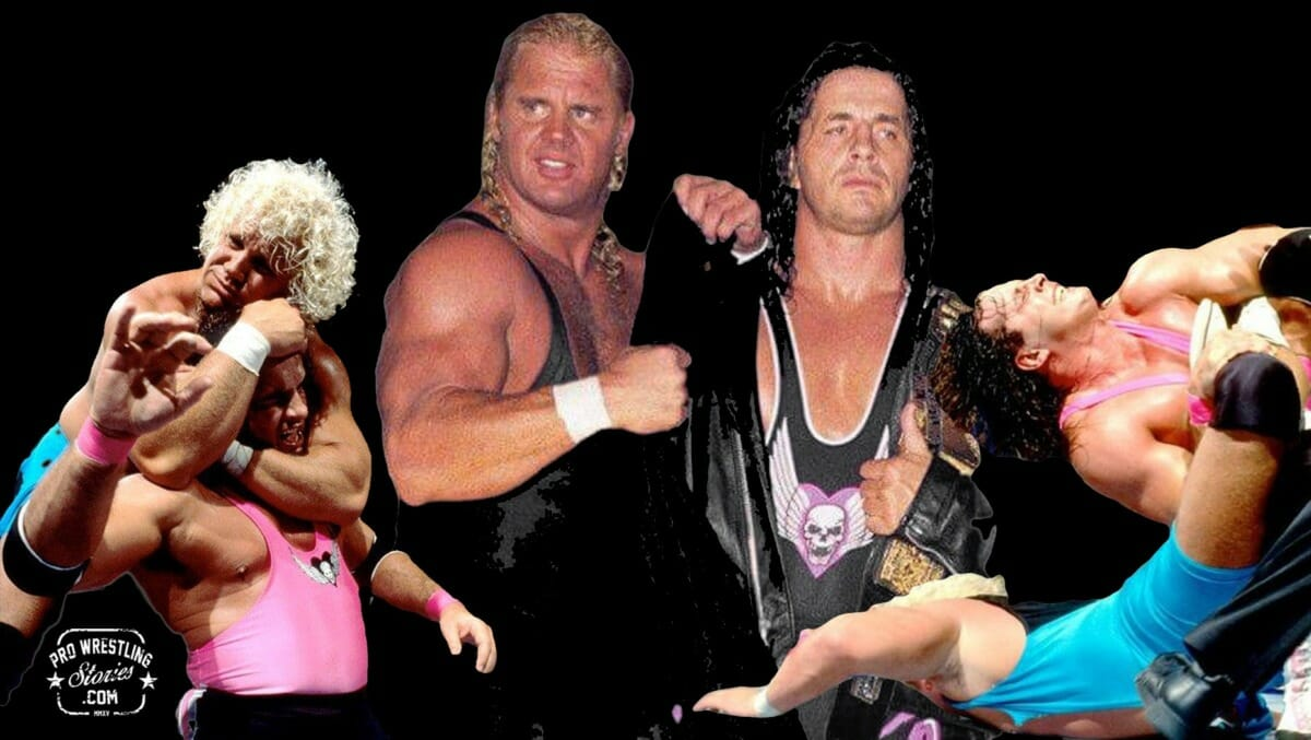 Bret Hart and Mr. Perfect   Revolutionists of Wrestling in the '90s [Photo design: JP Zarka of ProWrestlingStories.com]