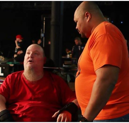 Droz and D'Lo Brown shown here catching up in 2018.