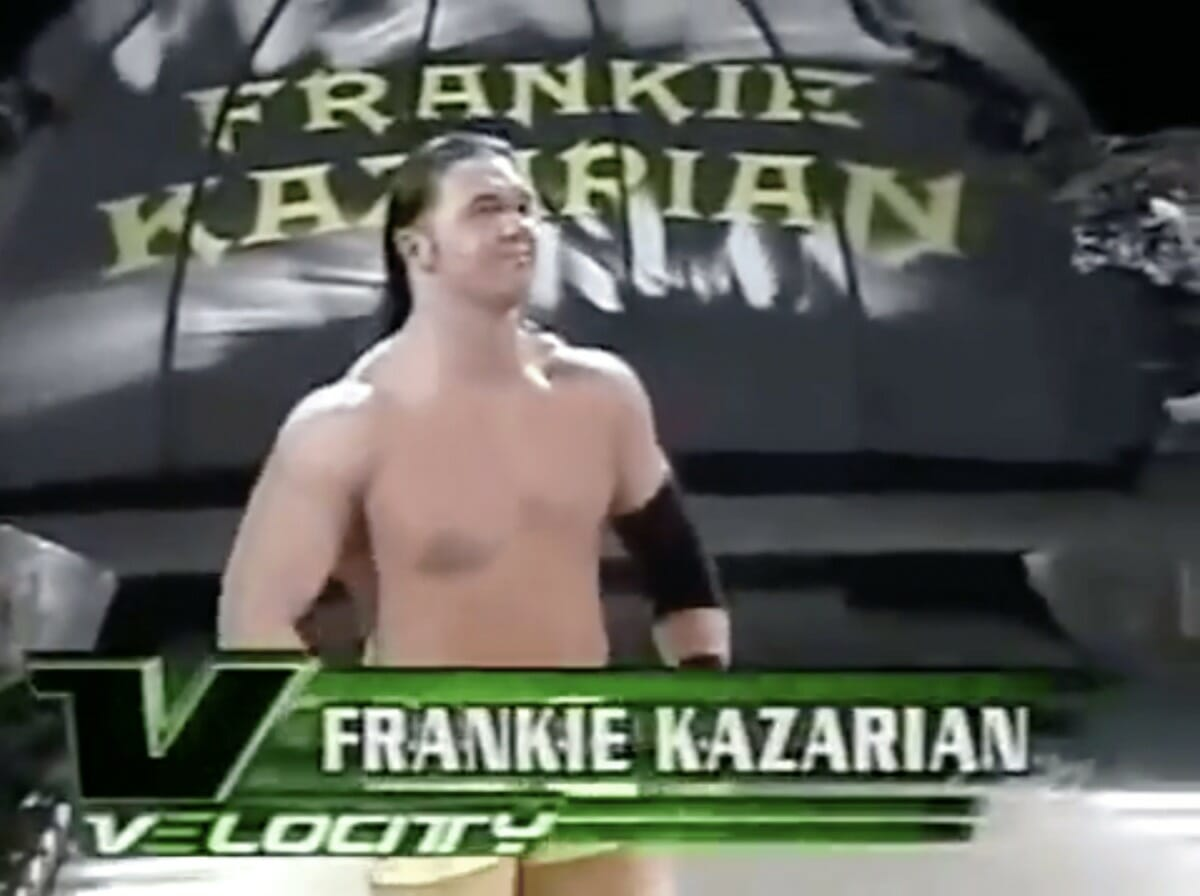 Frankie Kazarian with his hair down on WWE Velocity.