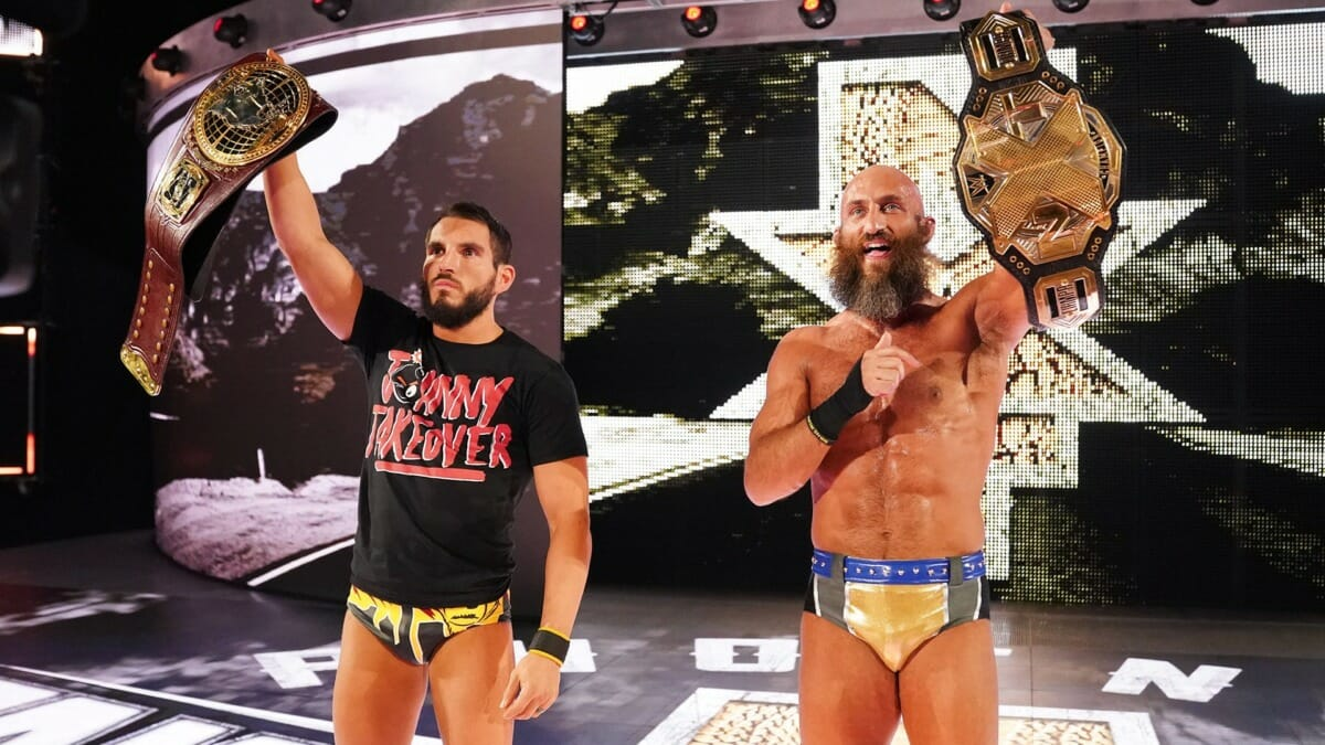 Gargano and Ciampa hold their respective titles at the culmination of NXT TakeOver: Phoenix