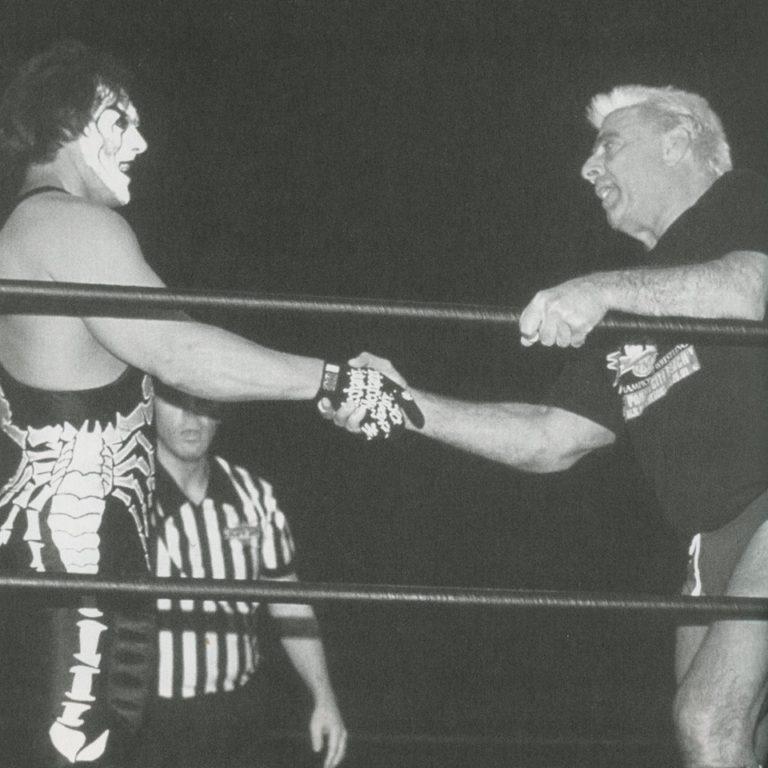 Sting and Ric Flair Shake Hands On The Last Episode of WCW Monday Nitro | Nostalgic Wrestling Photos