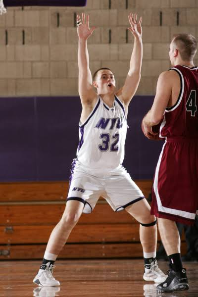 Bill Morrissey (Big Cass) playing basketball for NYU!
