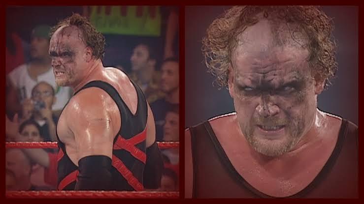 Kane after getting unmasked on June 23, 2003.
