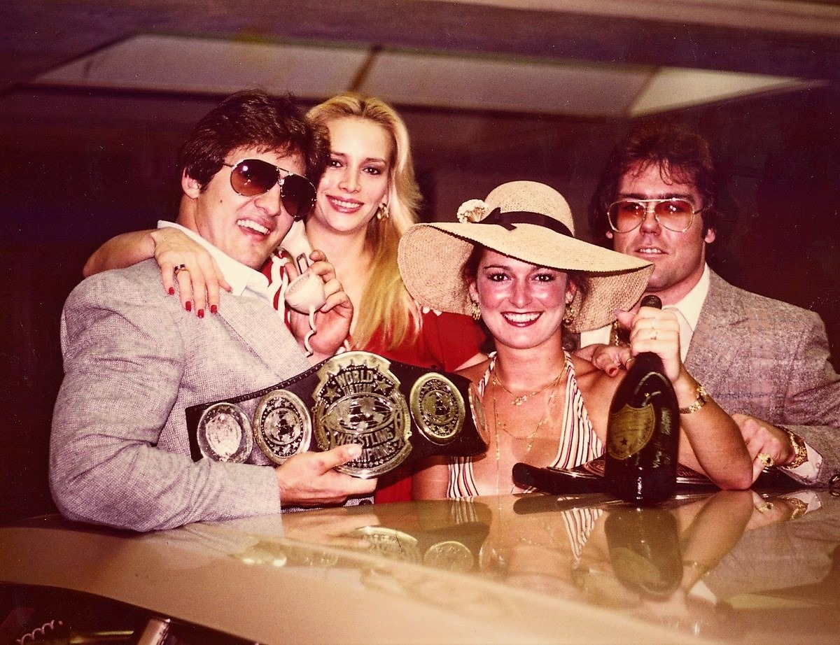 The original formation of The Dynamic Duo was Gino Hernandez (left) and Tully Blanchard (right) in SCW circa 1982.