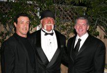 Sylvester Stallone, Hulk Hogan and Vince McMahon at the 2005 WWE Hall of Fame.