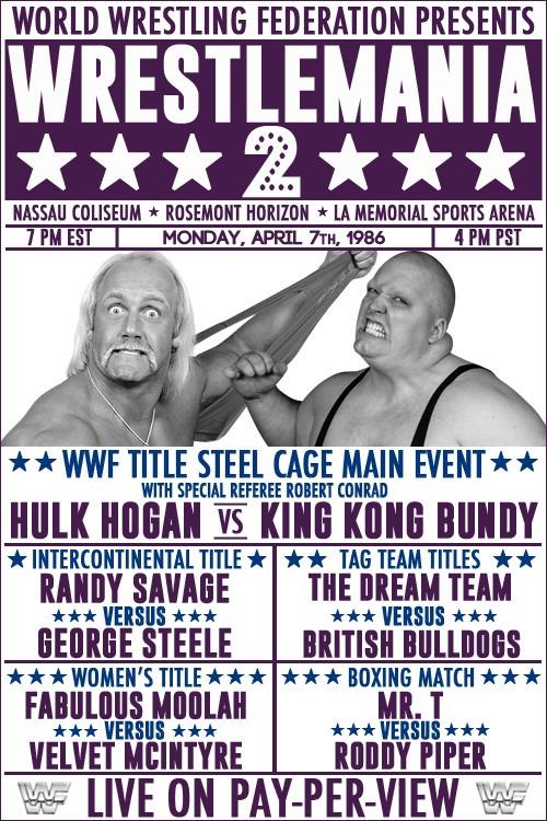 MONDAY, April 7th, 1986! WrestleMania 2.