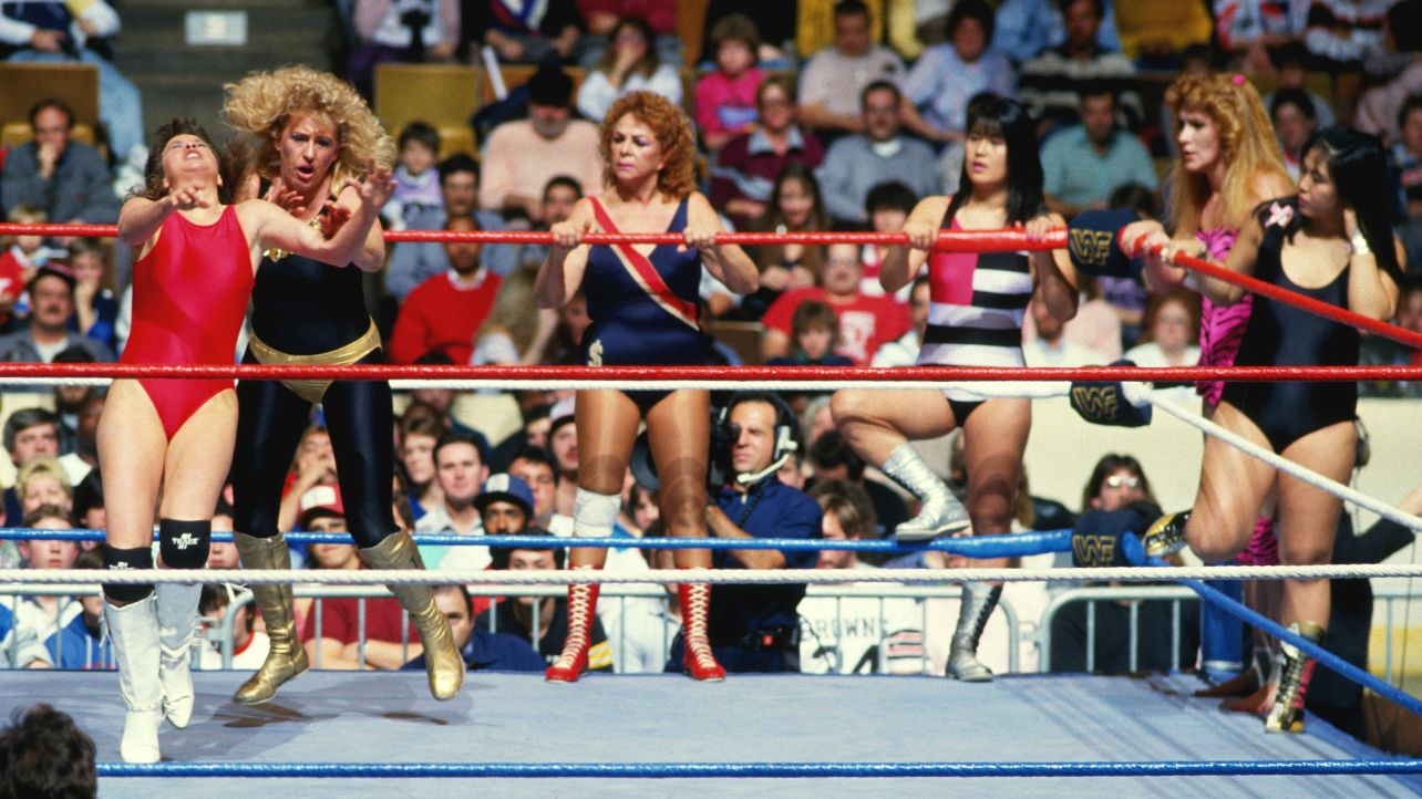 Velvet McIntyre teamed up with future rival Fabulous Moolah, The Jumping Bomb Angels (Itsuki Yamazaki and Noriyo Tateno), and Rockin' Robin in the first-ever ever women's classic survivor series match.