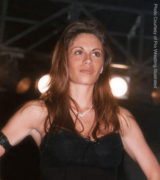 Francine decided that taking other wrestler's finishers was a way for her to earn her respect. She didn't want to just wear a bikini, she wanted to work. Photo: [PWI].