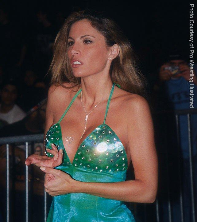 Although Francine looked the part of Diva, she certainly had no problems taking bumps and getting physical in the ring when asked of her.