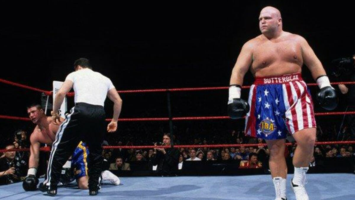 Things did not end well for ex-Smoking Gunn Bart Gunn when professional boxer Butterbean stepped in at WrestleMania 15's WWE Brawl For All tournament in 1998.
