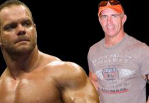 Long-time friends Chris Benoit and Bob Holly. As it turns out, Chris had invited Bob over to his home the very day he murdered his wife Nancy.