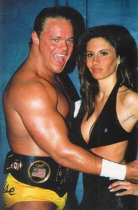 'The Franchise' Shane Douglas with Francine.