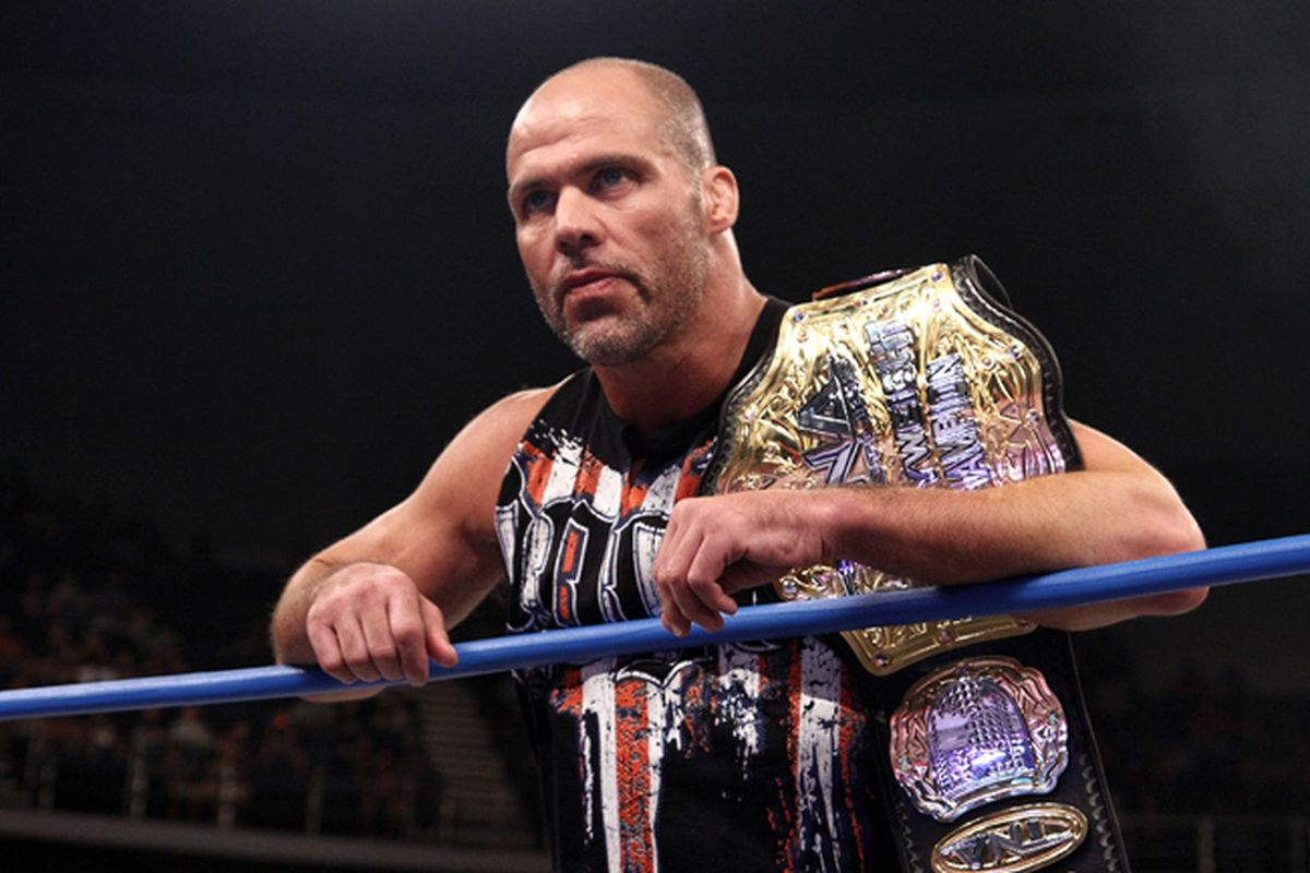 Kurt Angle as TNA champ in 2011