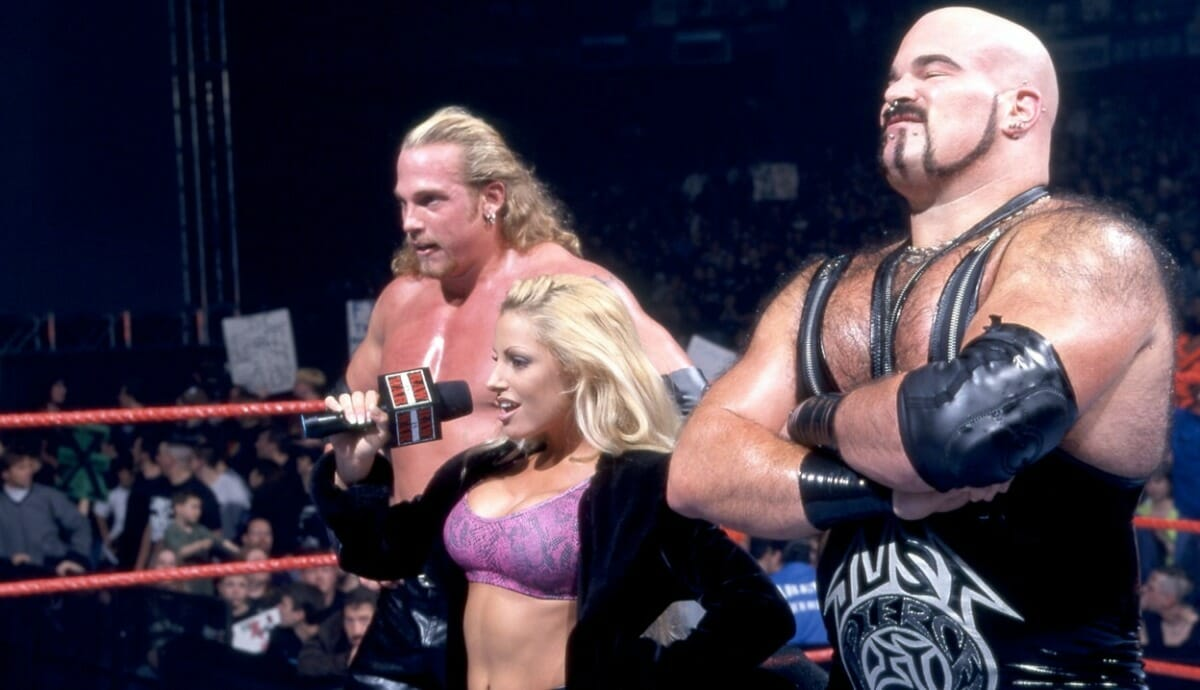 Test and Albert with manager Trish Stratus made up the memorable tag team T & A in the WWF.