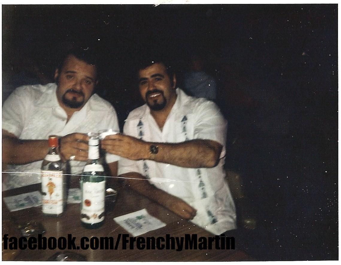 Frenchy Martin and Michel Martel enjoying drinks in Puerto Rico.
