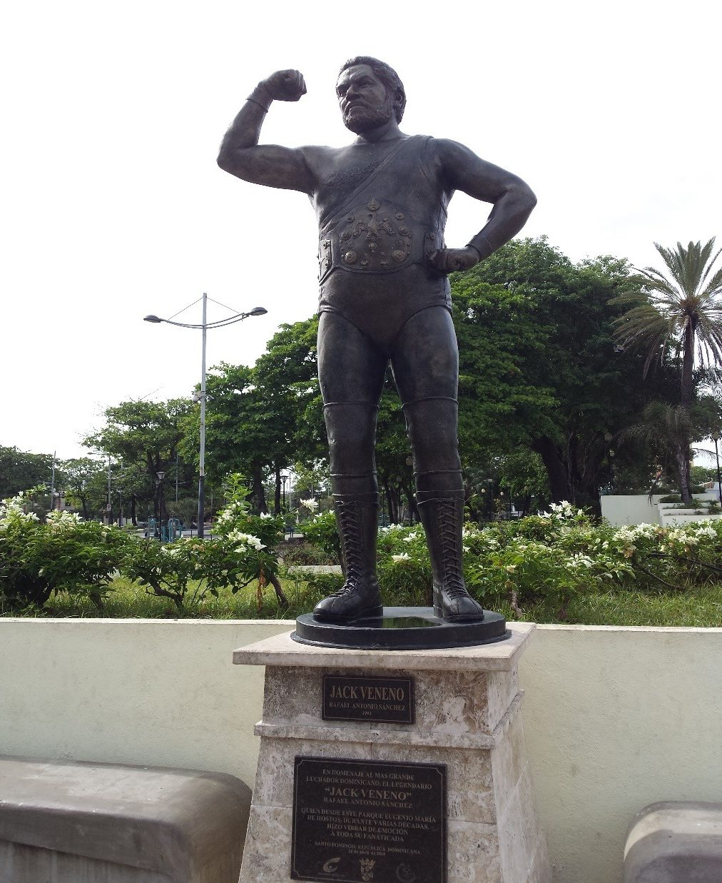 As of the publication of this piece, Jack Veneno is still alive and was recognized with a statue erected in his honor in Eugenio Maria de Hostos Park in Santo Domingo, Dominican Republic on April 12th, 2019.