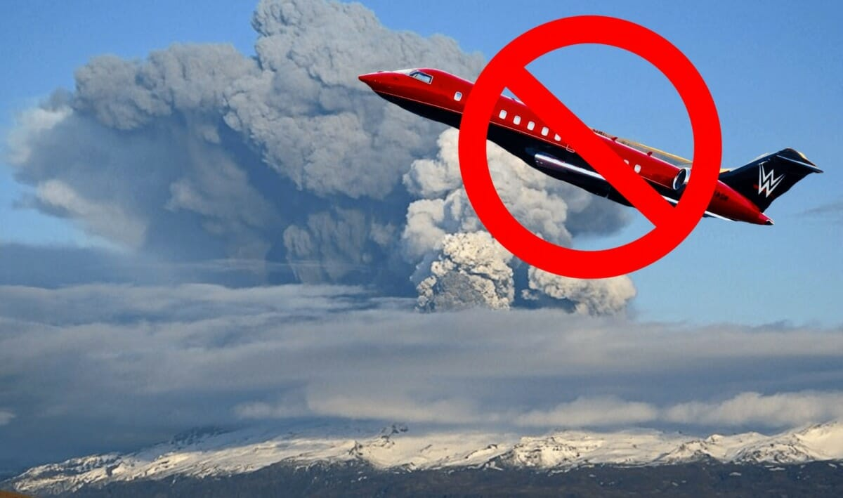 The 2010 eruptions of Eyjafjallajökull halted travel for WWE superstars in 2010. WWE RAW Nightmare!   The Volcanic Eruption That Forced Big Changes