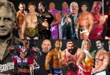 Eddie Sharkey - The trainer of professional wrestling champions. [design: JP Zarka / ProWrestlingStories.com]