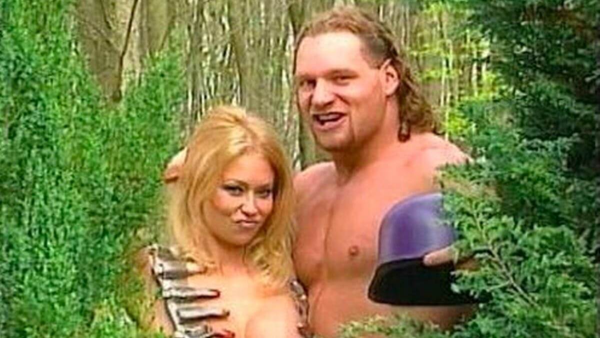Adult film actress Jenna Jameson and Val Venis film together in 1998.