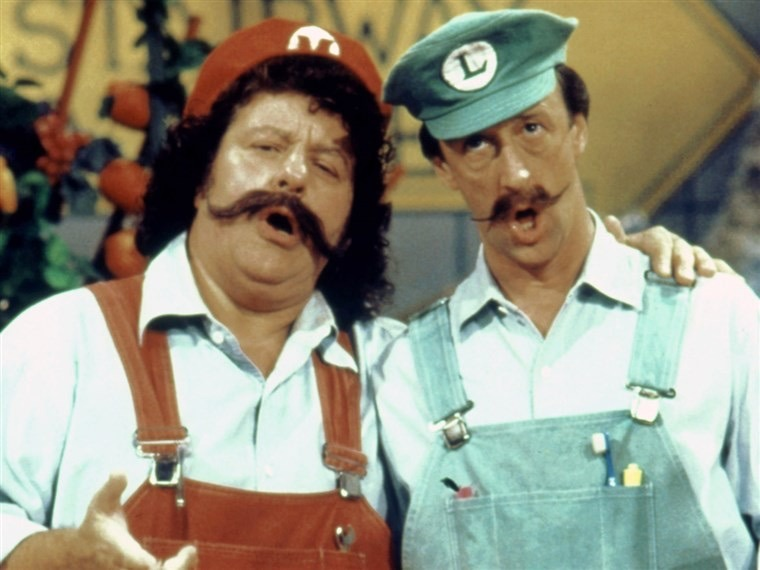 Captain Lou Albano and Danny Wells played the roles of Mario and Luigi in The Super Mario Bros. Super Show!