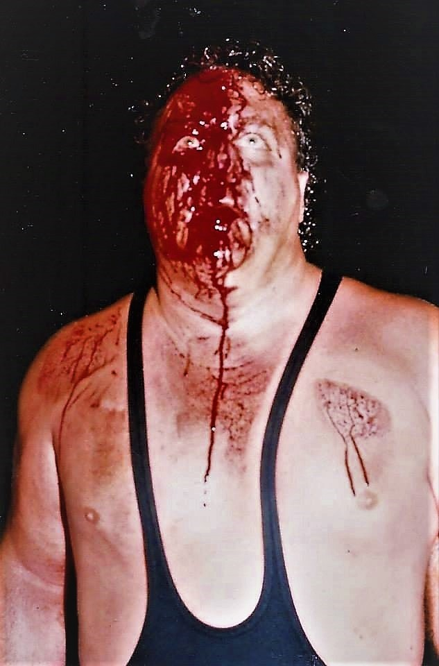 As a former Texas Brass Knuckles Champion, Davey O'Hannon often wore the crimson mask and said that the contests were frequently bloody messes, but the fans loved them.