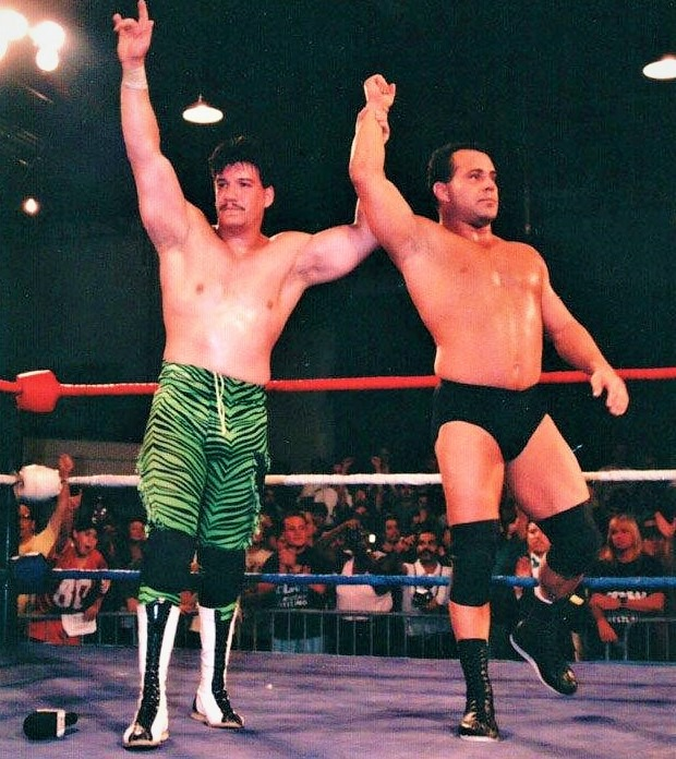 Eddie Guerrero, Dean Malenko, and Chris Benoit (not pictured) were the epitome of technical wrestling in a promotion with a reputation of gore and violence.
