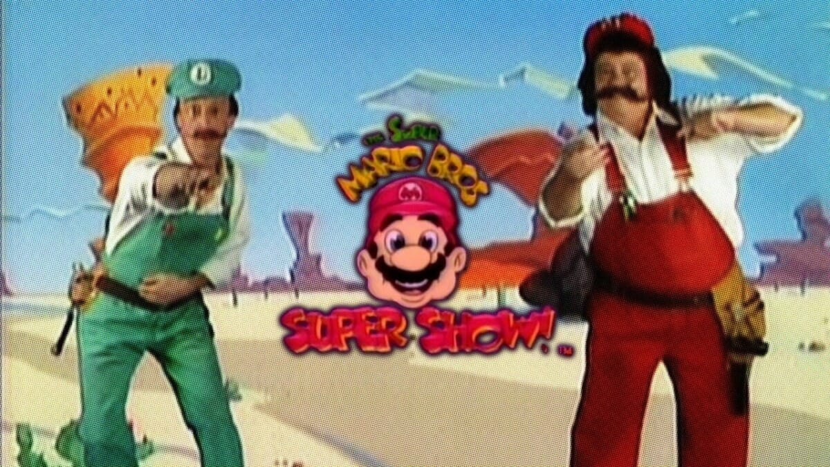 Danny Wells and Captain Lou Albano in The Super Mario Bros. Super Show!