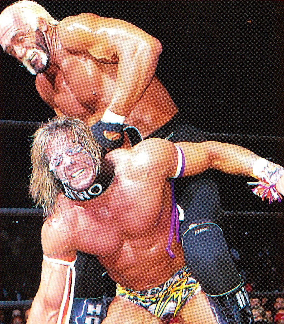 Hulk Hogan and Ultimate Warrior face off at WCW Halloween Havoc 1998. It turned out to be an unmemorable affair, unlike their clash at WrestleMania 6.