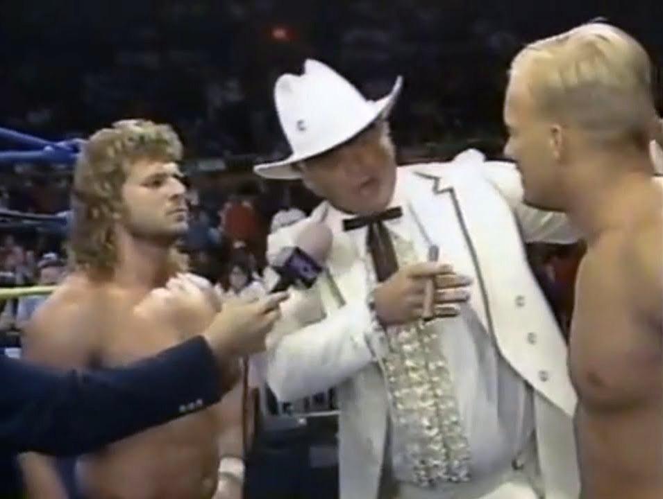 The Hollywood Blonds, Brian Pillman and Steve Austin, split up.