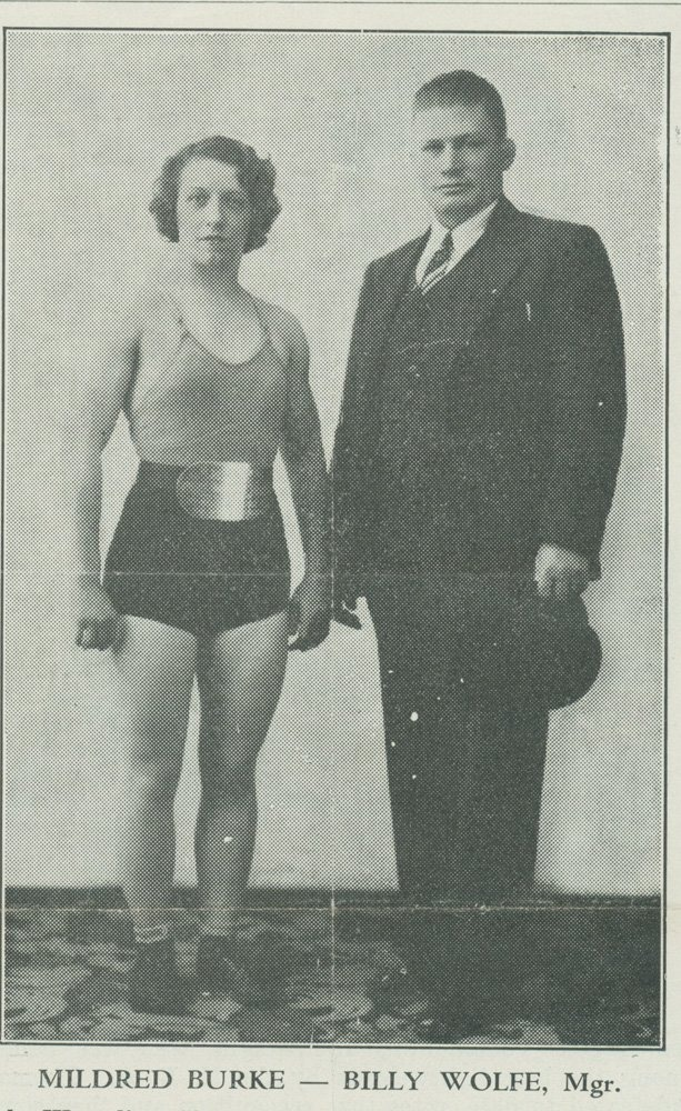 Billy Wolfe would ultimately be crucial in refining the image of Mildred Burke. She would later wear mostly white outfits with matching boots and even start using entrance music. But until then, most wrestlers of the time used dark colors.