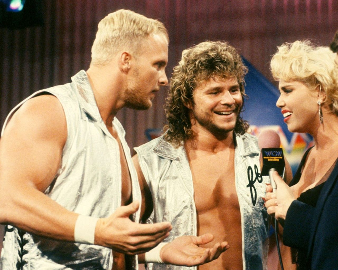 """The Hollywood Blonds"" Steve Austin and Brian Pillman Confront Missy Hyatt"