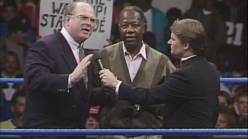 Bill Watts and Hammerin' Hank Aaron from WCW Starrcade 1992