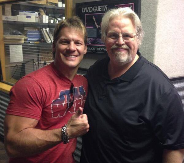 Chris Jericho and Mark Madden at Madden's 105.9 The X radio digs