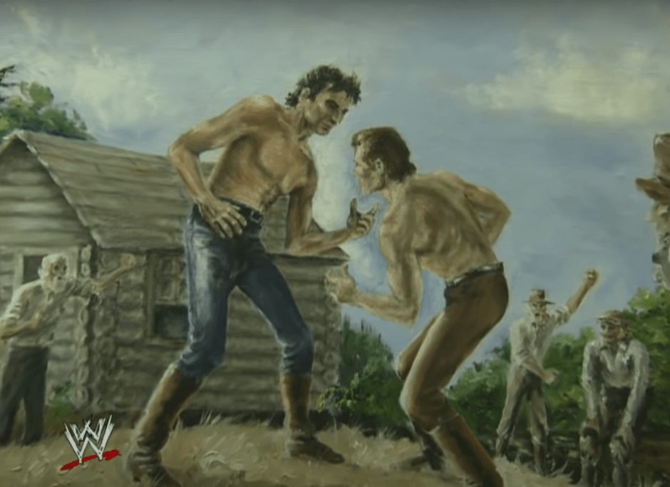 Abraham Lincoln squaring up against a jobber, circa 1831. Chokeslam! | The History of This Iconic Wrestling Move