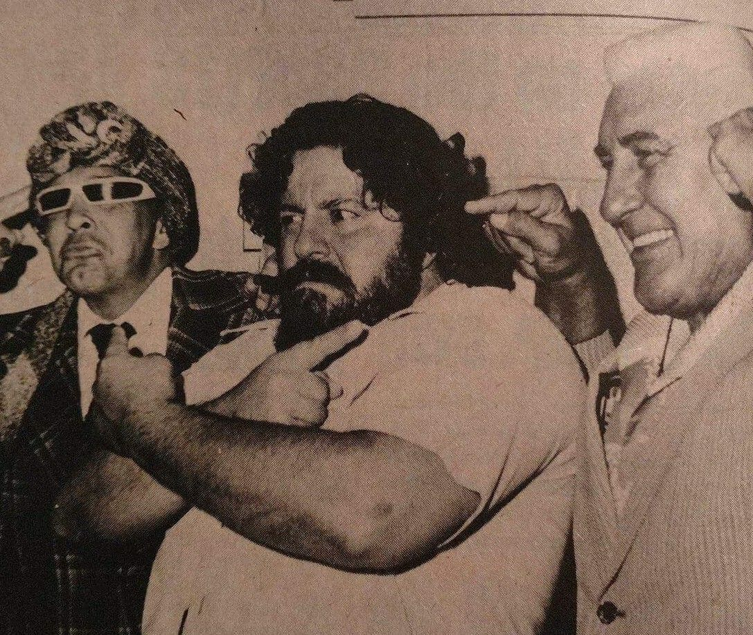 """The """"Three Wise Men of the East"""" - The Grand Wizard of Wrestling Ernie Roth, Captain Lou Albano, and Classy Freddie Blassie"""